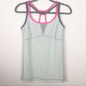 ZELLA | Gray and Pink Strappy Tank Top Size Small
